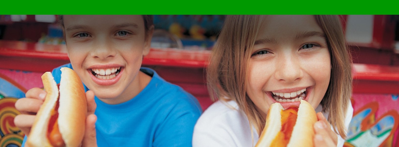 Kids Eating Hot Dogs - Elite Event Catering Services
